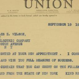 Telegram : 1942 September 19