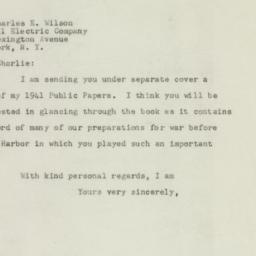 Letter : 1947 September 3