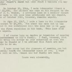 Letter : 1947 November 29