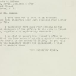 Letter : 1948 June 23