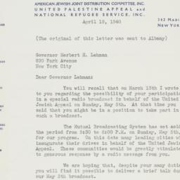 Letter : 1940 April 19
