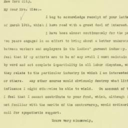 Letter : 1926 March 22