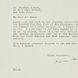Letter : 1928 November 26