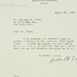 Letter : 1929 April 26
