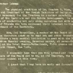 Letter : 1930 November 21