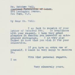Letter : 1941 December 10