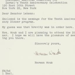 Letter : 1958 May 12