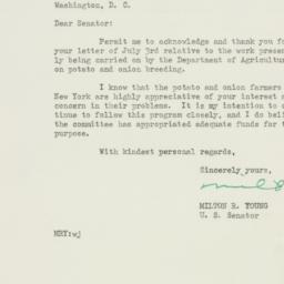 Letter : 1950 July 7
