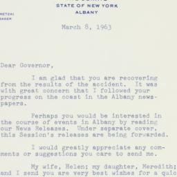 Letter : 1963 March 8
