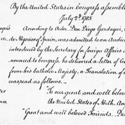 Document, 1785 July 02