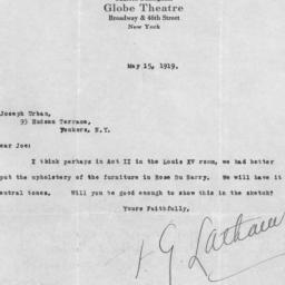 1 letter, 15 May 1919