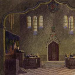 --1. Court Room, 20.5x30.7 cm.