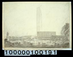 Perspective : preliminary for Power in buildings, 42 :[Drwg. no.] 154,