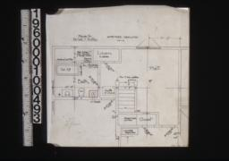 Amended drawing showing portion of 2nd floor plan :No. 1b.