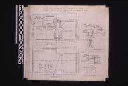 Office -- plan\, foundation plan with sections\, section thro' wall :Sheet no. 1.