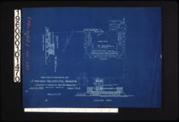 Details of entrance steps in plan and elevations looking south and looking east :Sheet no. 2 /