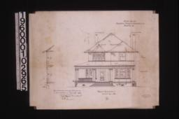 Front elevation with section through wall : 4\,