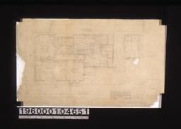 First floor plan :Sheet no. 1.