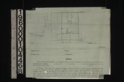 Sketch of plan of gardener's cottage.