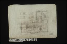 Second floor plan; west elevation of room no. 5\, north elev. of rm. no. 4\, front and side elevations of mantel in room no. 3 and mantel in room no. 1 :Sheet no. 3.