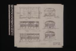 "Lathhouse on north property -- plan, section ""A-B"", south elevation, west elevation, north elevation, east elevation : Sheet no. 5."