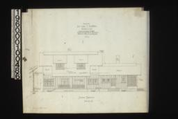 South elevation with section through wall : No. 4.