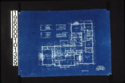 Second floor plan; west elev. of room no. 5\, north elev. of rom no. 4\, front and side elevations of mantel in room no. 3 and mantel in room no. 1 :Sheet no. 3.