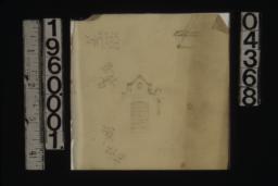 Sketch of door\, unidentified sketch