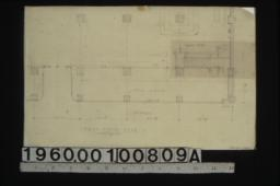 Partial first floor plan showing proposed change in staircase.