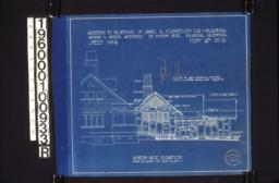 Northwest elevation :Sheet no. 4\, Feb'y 26th\, '07.