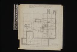 Foundation plan; sections of walls\, piers and chimneys : Sheet no. 12\,