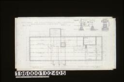 Foundation plan; foundation details -- typical wall section\, elevation of vent\, section of vent\, girder post footings (except where otherwise indicated on plan)\, chimney footing :Sheet no. 1\,
