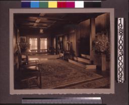 Entry hall, view toward terrace doors.