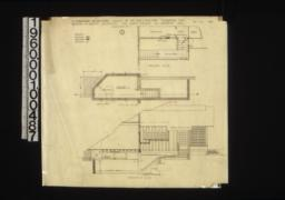Alterations and additions -- partial ground plan, partial cellar plan, section at A-B :1 /