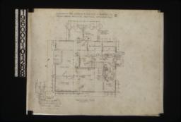 First floor plan\, detail at A showing plan of corner :No. 2.