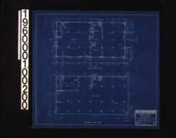 First floor plan\, basement paln :Sheet 1 /