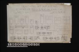 """1"""" scale and full size sash schedule detail drawings :Sheet no. 17\,"""