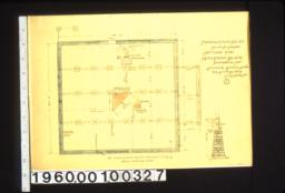 """Foundation plan\, 1/2"""" section A-A :1."""