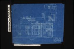 East elevation; elevations of stairs looking west and looking south :Sheet no. 5.