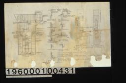 Ceiling plan (looking up)\, typical panelling sections and plans\, full size detail drawing of curtain poles\, F. S. section of doors :Sheet no. 2.