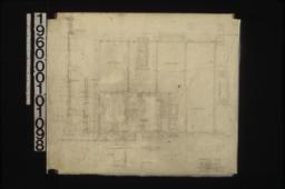 Foundation plan; section thru boiler room; 3/4 inch scale details of construction -- main wall section\, typical door frames\, cellar window frames : Sheet no. 1.