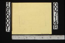 Unidentified rough detail sketch showing rectangle