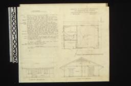 Garage -- plan, south elevation, east elevation :Sheet no.1.