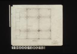 Show room -- floor plan showing ceiling above :Sheet no. 32 /