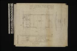 Garage -- plan\, end elevation\, front elevation with section through wall : Sheet no. 1\, (3)