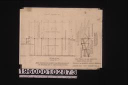 Floor plan\, elevation of truss showing old and new work (view taken looking south) :Sheet no. 2. (2)