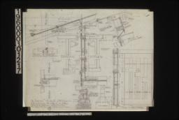 """1 1/2 inch scale details -- splice of beam """"A"""" on east & west elevation\, section through corner of 2nd floor\, typical section through wall with exterior and interior elevations of window\, section through footing\, detail of lattice work\, details of front doors in section and elevation :8."""
