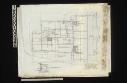 Foundation plan, section of walls and girders :Sheet no. 2.