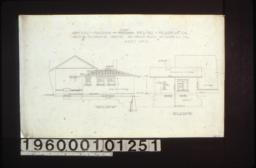 North elevation and west elevation of addition :Sheet no. 2.