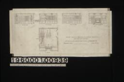 1/4 inch scale details of dining room -- elevations of east side\, south side\, west side\, and north side; plan :Sheet no. 11\,